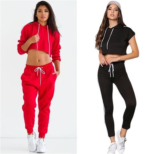 Mặc jogger với áo croptop hoodie