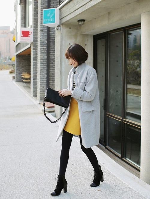 chọn áo khoác nữ cho ngừi lùn