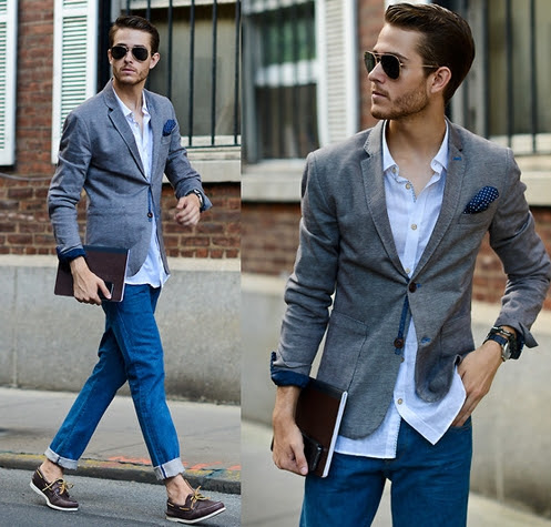 áo vest nam kết hợp quần jean