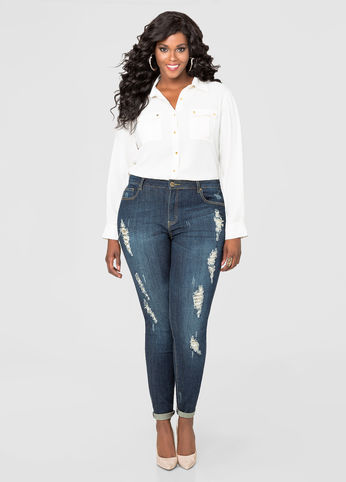 quần jean cho nàng béo