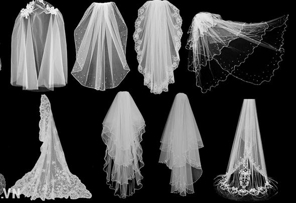 khăn voan cho áo dài cưới