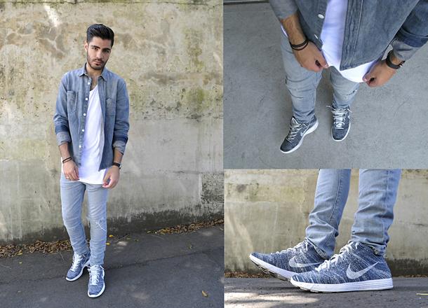 Cách phối đồ đẹp với quần jeans rách nam