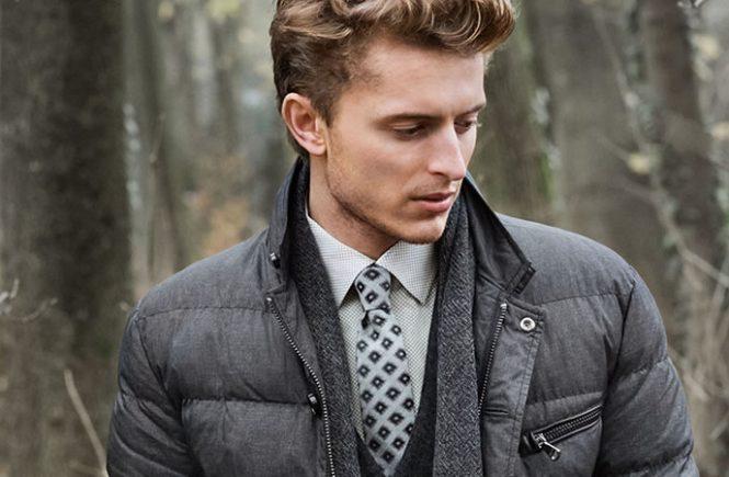 phối đồ với áo khoác phao nam