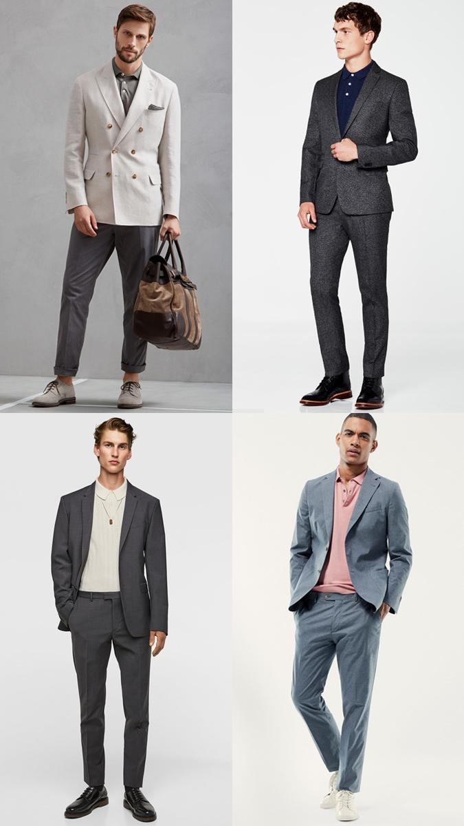 kết hợp áo polo nam với áo vest/ blazer