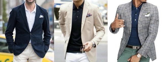 kết hợp áo polo với áo vest/blazer