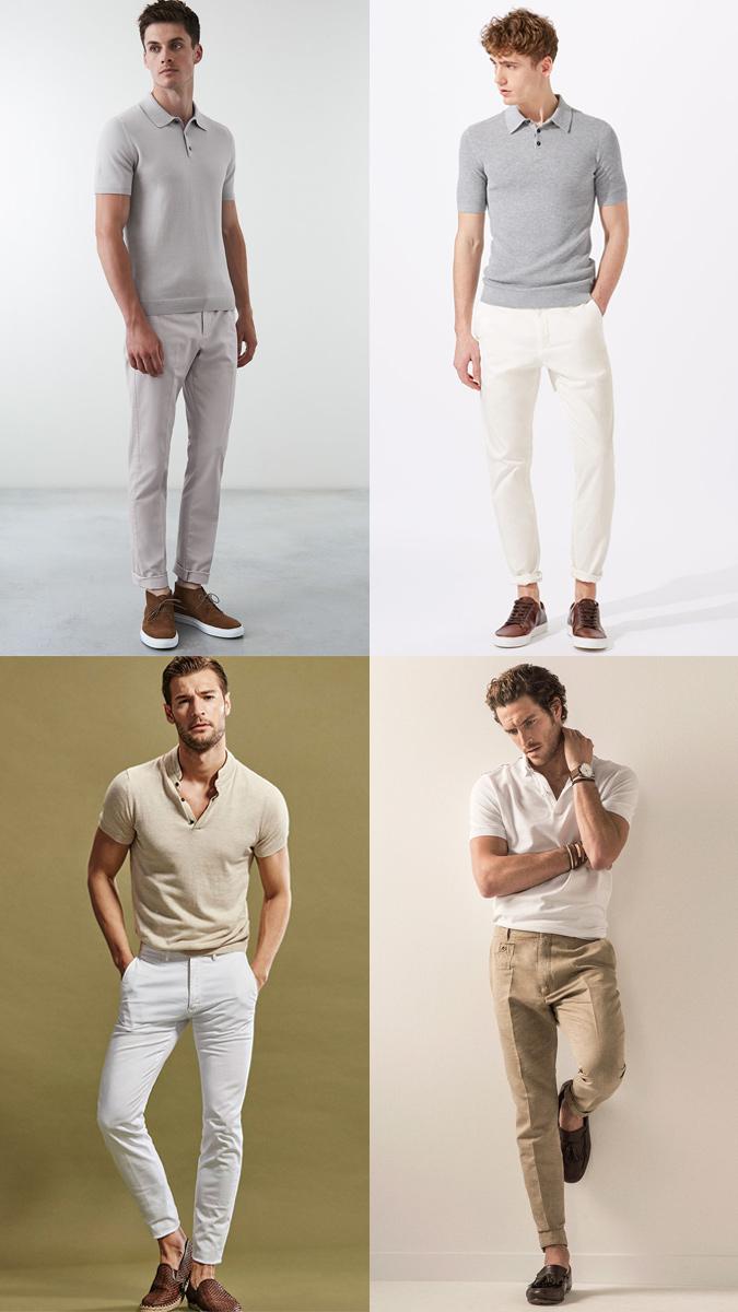 kết hợp quần jean/kaki với áo polo nam