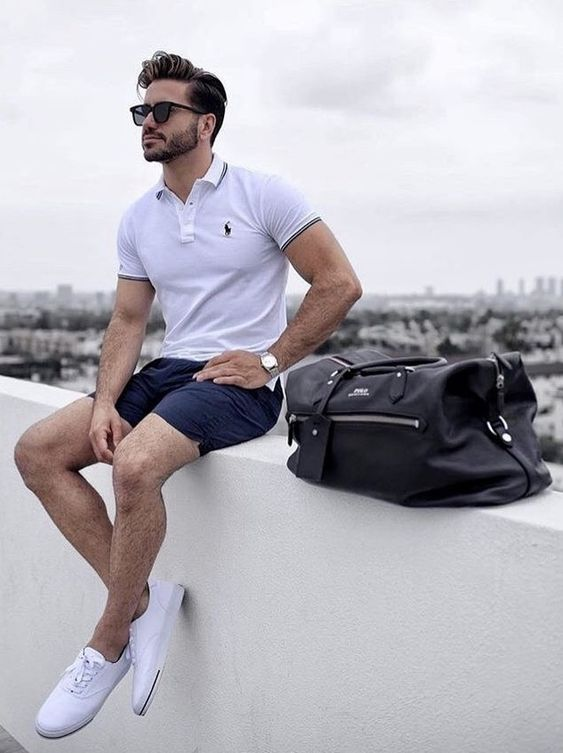 áo polo nam kết hợp với quần short