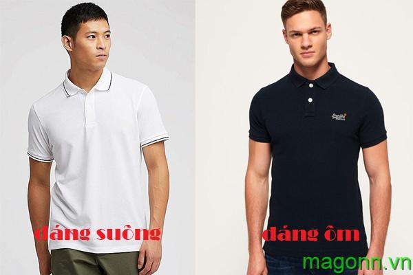 chọn áo thun polo nam theo kiểu dáng