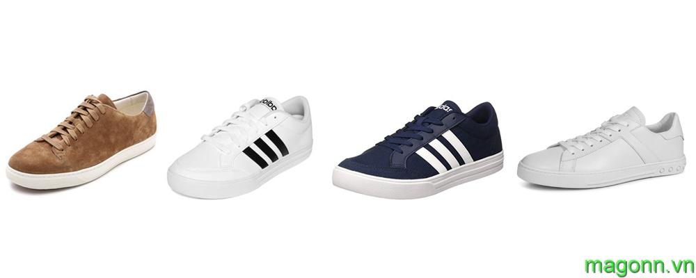 kết hợp áo polo nam với giày sneaker