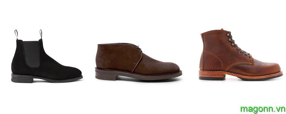 kết hợp áo polo nam với boot