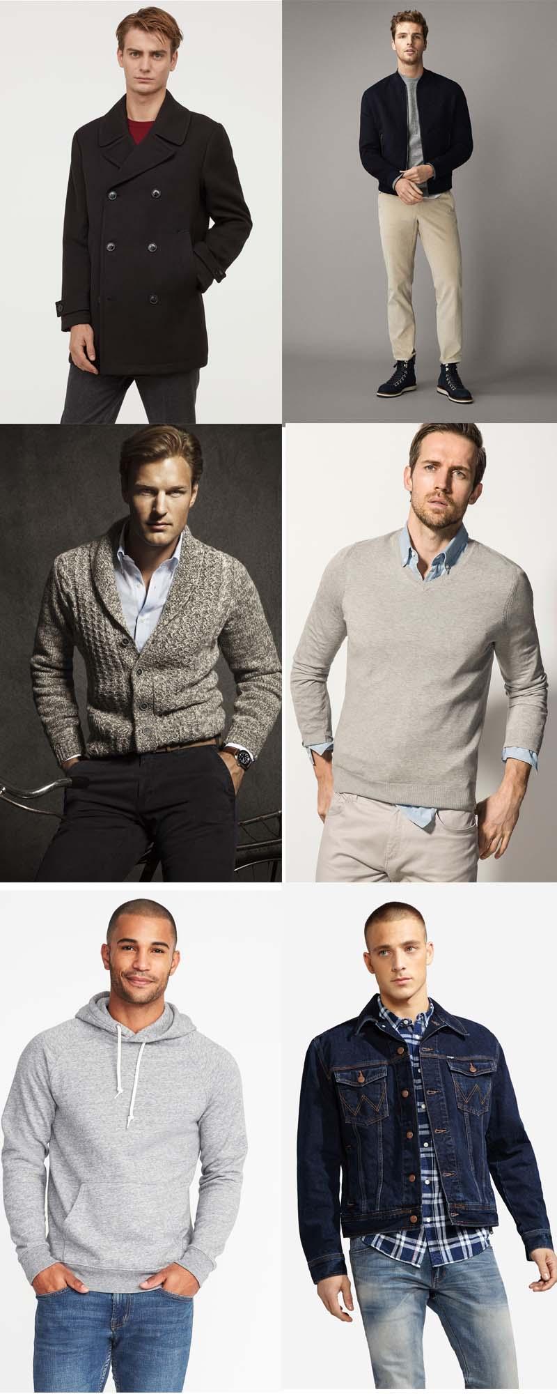 Xây dựng tủ đồ cơ bản cho nam giới - áo khoác, áo len